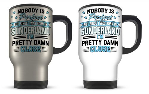 14oz Personalised Nobody Is Perfect But Since I was Born In... Funny Aluminium Travel Mug
